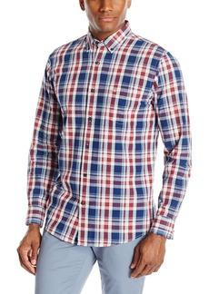 Dockers Men's Beached Poplin Long Sleeve Button-Front Shirt