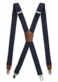 Dockers Pants Suspenders for Men - Heavy Duty Clips and X Back Adjustable Straps for AdultsOne sizee