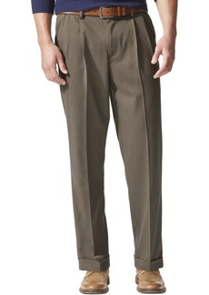 Dockers Men's Stretch Relaxed Fit Comfort Khaki Pants Pleated - Cuffed D4