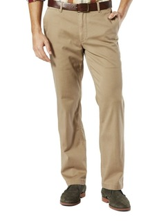 DOCKERS Signature Flat-Front Khaki Pants