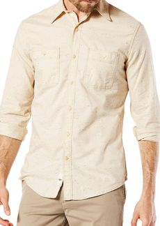 DOCKERS Slim-Fit Cotton Casual Button-Down Shirt
