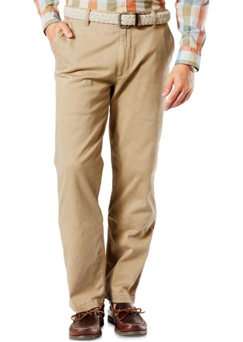 Dockers Men's Stretch Big & Tall Classic Fit Washed Khaki Pants D3