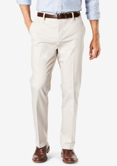 New Dockers Men's Signature Lux Cotton Creased Straight Fit Stretch Khaki Pants D2