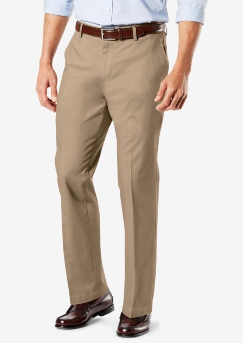 Dockers Men's Signature Lux Cotton Straight Fit Creased Stretch Khaki Pants