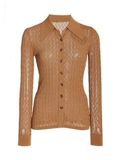 DoDo Bar Or - Women's Meryl Pointelle-Knit Top - Brown - Moda Operandi