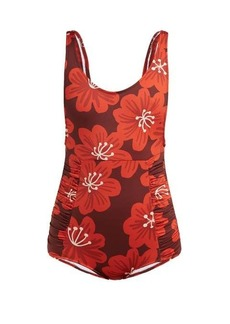 Dodo Bar Or Adinna scoop-back floral-print swimsuit