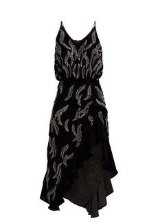 Dodo Bar Or Agnes bead-embellished velvet dress