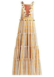 Dodo Bar Or Alicia embroidered cotton maxi dress