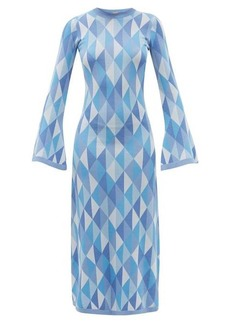 Dodo Bar Or Ally open-back geometric-jacquard knitted dress