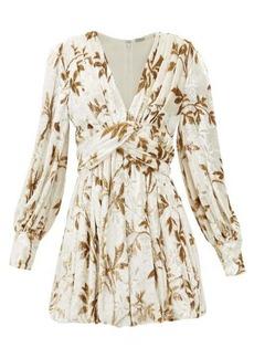 Dodo Bar Or Anatalya floral-devoré velvet dress