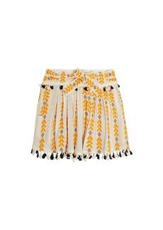 Dodo Bar Or Ariana woven cotton wrap mini skirt