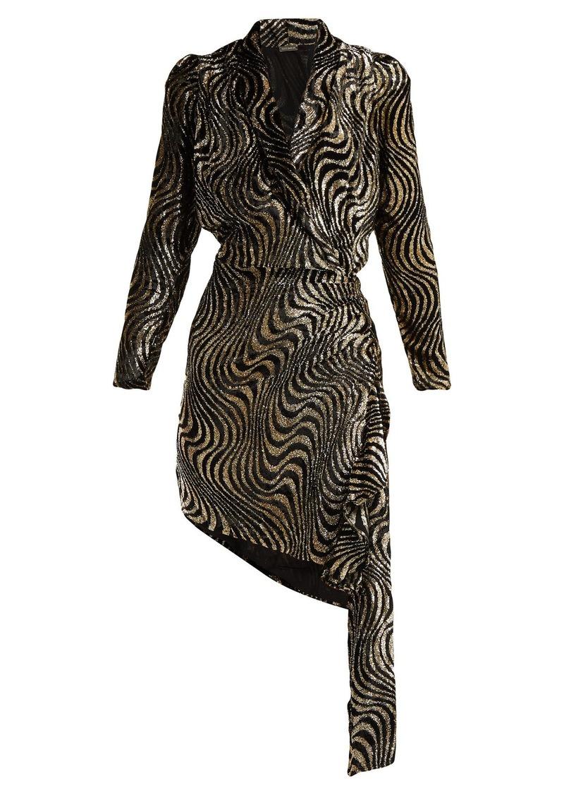 90d68ffd5e Dodo Bar Or Dodo Bar Or Ava asymmetric lamé and velvet dress