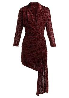 Dodo Bar Or Ava asymmetric polka-dot fil-coupé dress
