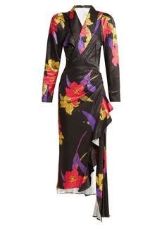 Dodo Bar Or Ava satin-jacquard midi dress