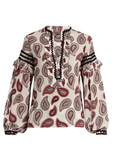 Dodo Bar Or Bill paisley-print silk blouse