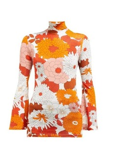 Dodo Bar Or Brigitte floral-print roll-neck top