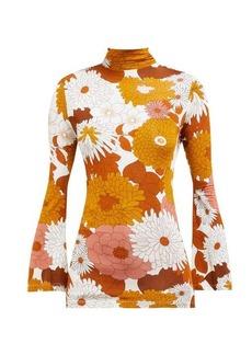 Dodo Bar Or Brigitte floral-print turtleneck top