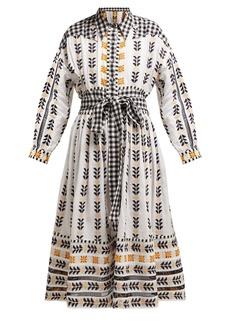Dodo Bar Or Constanza embroidered cotton shirtdress