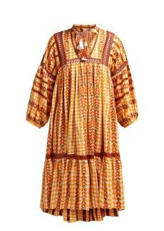 Dodo Bar Or Elena embroidered cotton midi dress