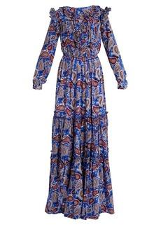 Dodo Bar Or Elvis paisley-print ruffled maxi dress