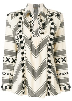 Dodo Bar Or fringe trim blouse - Nude & Neutrals