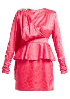 Dodo Bar Or Grace crystal-emebllished satin dress