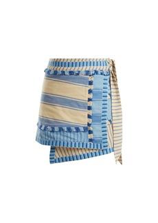 Dodo Bar Or Hoza striped cotton wrap skirt