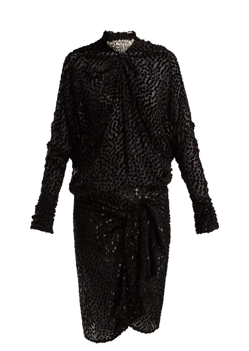 Dodo Bar Or Ida Dress.Ida Polka Dot Fil Coupe Mini Dress