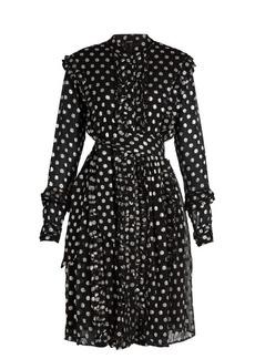 Dodo Bar Or Jaimes long-sleeved fil coupe dress