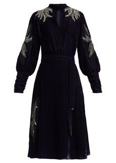 Dodo Bar Or Josephine embellished velvet midi dress