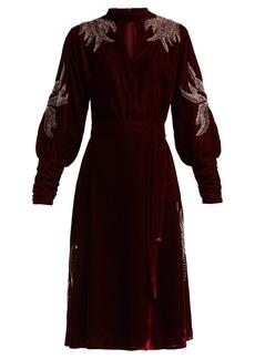 Dodo Bar Or Josephine velvet beaded midi dress