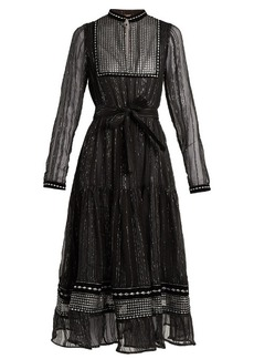 Dodo Bar Or Karla embroidered tulle-trimmed chiffon dress