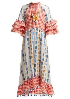Dodo Bar Or Lola ruffled cotton maxi dress