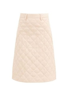 Dodo Bar Or Lona quilted-leather midi skirt