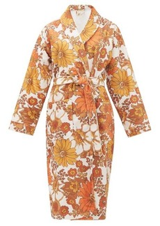 Dodo Bar Or Luba belted floral-print terry robe