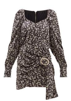 Dodo Bar Or Madonna floral-print velvet mini dress