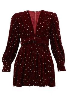 Dodo Bar Or Malenia crystal-embellished velvet mini dress