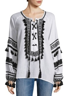 Dodo Bar Or Malka Lace-Up Top