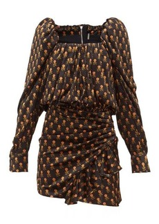Dodo Bar Or Michel floral-print velvet mini dress