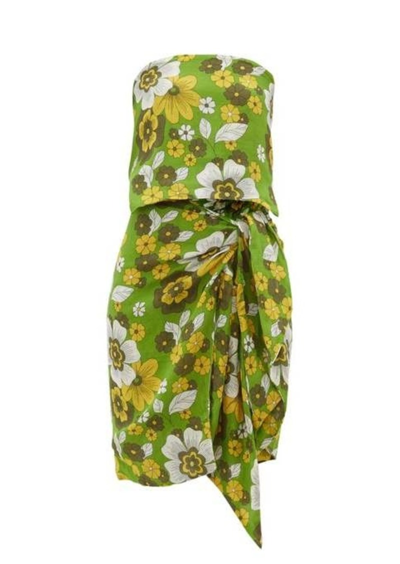Dodo Bar Or Mosa tie-front floral-print cotton skirt