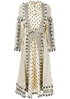 Dodo Bar Or multi pattern flared shirt dress - Nude & Neutrals