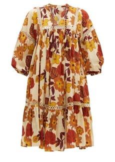 Dodo Bar Or Nell floral-print cotton-poplin smock dress