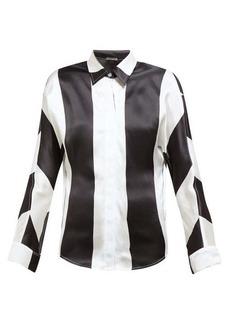 Dodo Bar Or Noy stripe-print silk-satin shirt