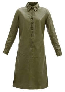 Dodo Bar Or Pattie ruched-edge leather dress