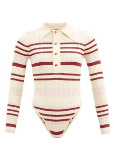 Dodo Bar Or Penny striped ribbed-knit bodysuit