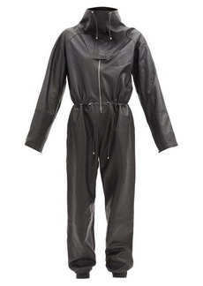 Dodo Bar Or Piki high-neck leather jumpsuit