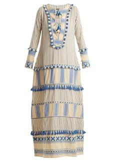 Dodo Bar Or Samuelle striped cotton maxi dress