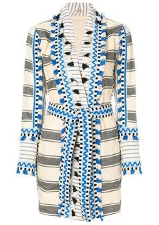 Dodo Bar Or striped kimono dress - Blue