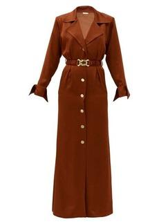 Dodo Bar Or Tamara belted satin shirt dress