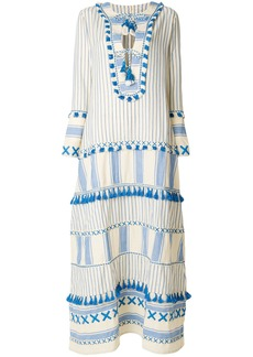 Dodo Bar Or tassel long length tent dress - Nude & Neutrals